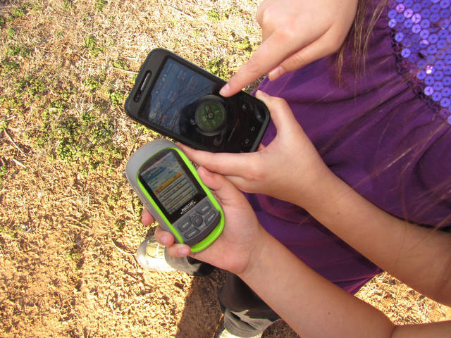 If you're interested in geocaching -- using global positioning coordinates to find boxes called geocaches hidden in places worldwide -- you can use a GPS device or apps downloaded to your smart phone. PHOTO PROVIDED. <strong></strong>