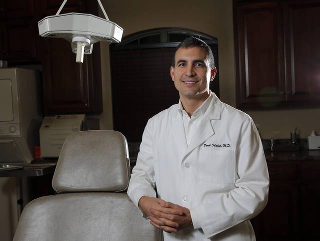 Dr. Derek Shadid is shown last week in his office, Shadid Plastic Surgery Associates, in Oklahoma City.  Photo by Sarah Phipps, The Oklahoman
