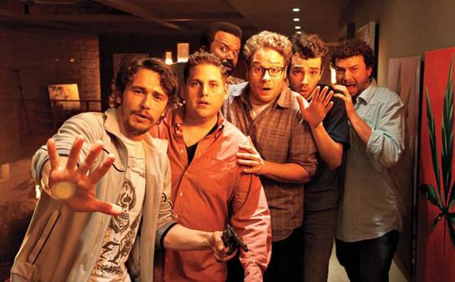 This Is The End (2013) L-r, James Franco, Jonah Hill, Craig Robinson, Seth Rogen, Jay Baruchel and Danny McBride