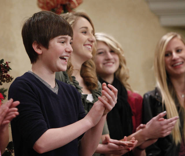 Greyson Chance tapes a promotional video at Epworth Villa. Photo by Steve Gooch, The Oklahoman