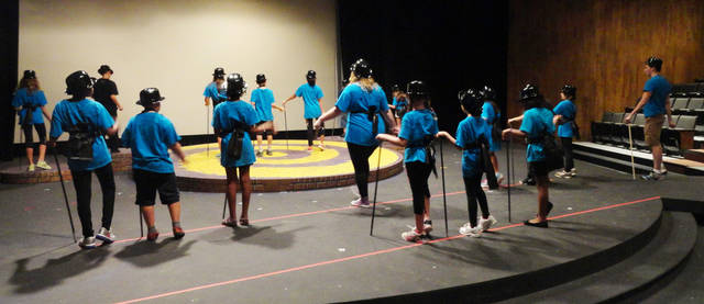Campers in the Dance 2 class rehearse for their perfomance at Oklahoma Children's Theatre summer camp. PHOTO PROVIDED. <strong></strong>
