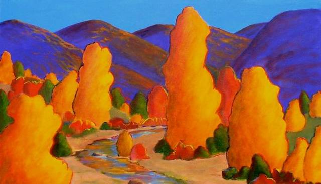 Landscapes by local artist Regina Murphy will be on display at JRB at the Elms through December. Photo provided