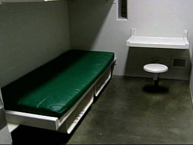 FILE - In this May 4, 2007 file photo from video provided by KCBS-TV in Los Angeles shows the interior of a typical jail cell at the Century Regional Detention Facility in the Los Angeles suburb of Lynwood, Calif. (AP Photo/Pool, KCBS-TV) ORG XMIT: NYET721