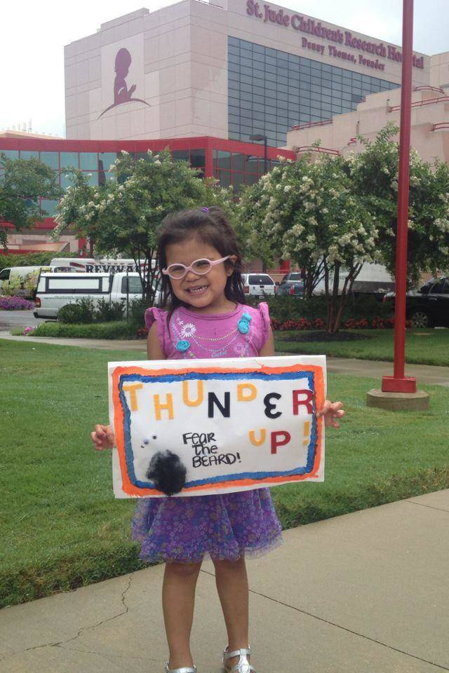 Kaydence from Shawnee is Thunderin it up at St. Jude this week.