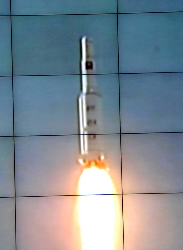 In this monitor screen image taken by the Korean Central News Agency and distributed in Tokyo by the Korea News Service, the Unha-3 rocket lifts off from a launch site on the west coast, in the village of Tongchang-ri, about 56 kilometers (35 miles) from the Chinese border city of Dandong, North Korea, Wednesday, Dec. 12, 2012. North Korea successfully fired a long-range rocket on Wednesday. (AP Photo/Korea Central News Agency via Korea News Service)  JAPAN OUT UNTIL 14 DAYS AFTER THE DAY OF TRANSMISSION ORG XMIT: TOK822