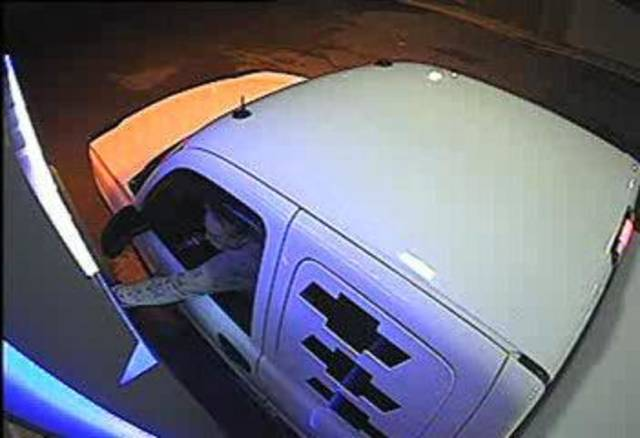 Norman police have released this photo of a missing pickup truck. The truck belongs to a man found dead under suspicious circumstances inside his burning house on Wednesday. PHOTO PROVIDED