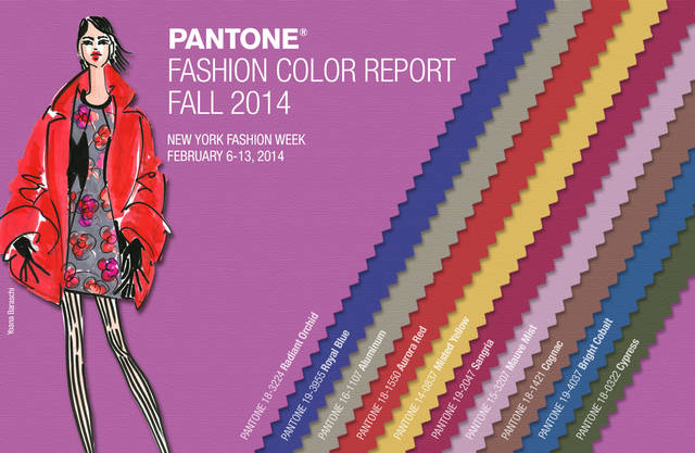 Pantone Announces Fashion Color Report Fall 2014.  (PRNewsFoto/Pantone LLC)