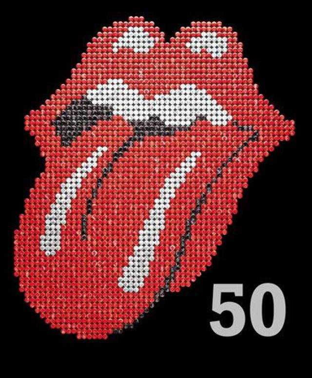 This book cover image released by Hyperion shows &quot;The Rolling Stones 50,&quot; by Mick Jagger, Keith Richards, Charlie Watts and Ronnie Wood. In celebration of the band&#039;s 50th anniversary, the book offers stark commentary from the Stones to go with tour photos, candids and close-ups. Barnes &amp; Noble is reccomending &quot;The Rolling Stones 50&quot; as a holiday gift for 2012. (AP Photo/Hyperion)