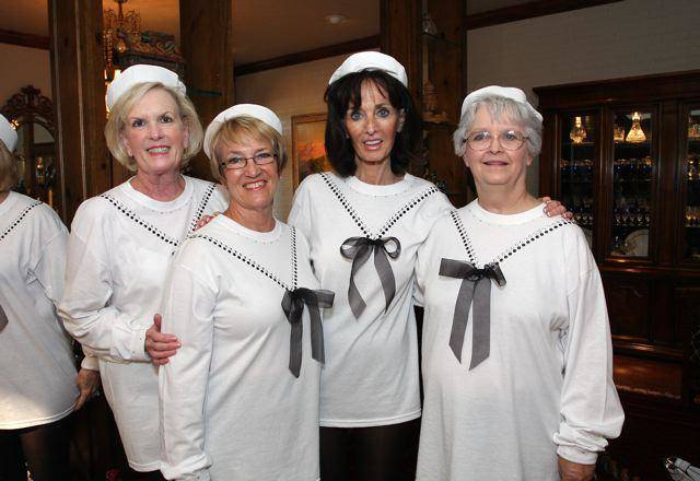Becky Welch, Lynn Patterson, Linda Tarpley, Delores Johnson were at the event in the home of Jan and Robert Henry. (Photo by David Faytinger).