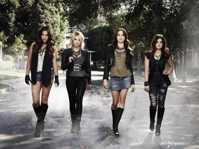 "PRETTY LITTLE LIARS - ABC Family's ""Pretty Little Liars"" stars Shay Mitchell as Emily Fields, Ashley Benson as Hanna Marin, Troian Bellisario as Spencer Hastings and Lucy Hale as Aria Montgomery. (ABC FAMILY/ANDREW ECCLES)"