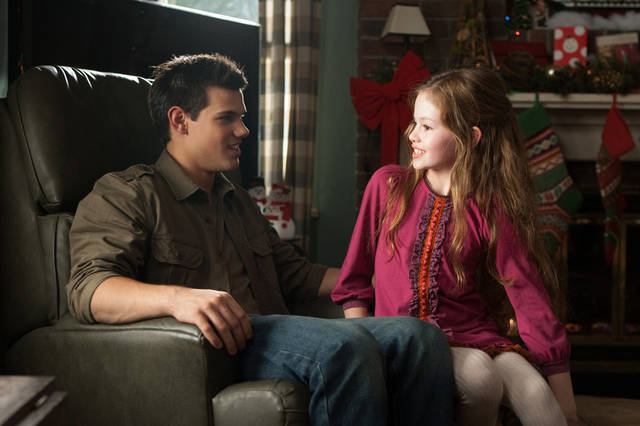 Taylor Lautner, left, and Mackenzie Foy are seen in �The Twilight Saga: Breaking Dawn � Part 2.�  AP Photo/Summit Entertainment