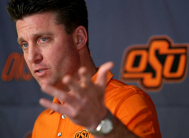 Mike Gundy will do the rounds at ESPN's Bristol, Conn., campus. Photo by By John Clanton, The Oklahoman