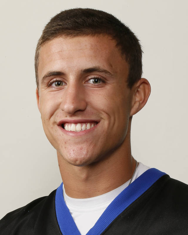 Joel Blumenthal, Deer Creek football player, poses for a mug shot during The Oklahoman's Fall High School Sports Photo Day in Oklahoma City, Wednesday, Aug. 15, 2012. Photo by Nate Billings, The Oklahoman