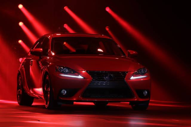 FILE - In this Tuesday, Jan. 15, 2013, photo, The Lexus IS 300h debuts at media previews for the North American International Auto Show in Detroit. Lexus, Porsche and Lincoln are the best performers in an annual survey of vehicle dependability. The J.D. Power and Associates survey released Wednesday, Feb. 13, 2013, measures problems experienced in the last year by owners of 3-year-old vehicles. (AP Photo/Paul Sancya, File)