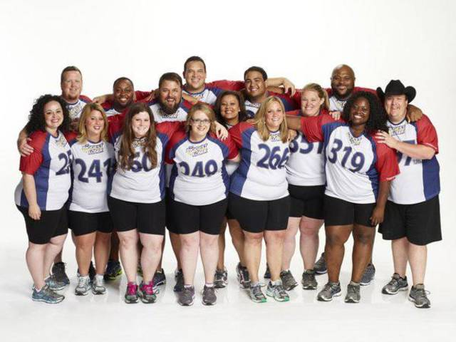 THE BIGGEST LOSER -- Season 15 -- Pictured: (l-r) Fernanda Abarca, Matt Hooper, Chelsea Arthurs, Craig Arrington, Rachel Frederickson, David Brown, Hap Holmstead, Marie Pearl, Tanya Winfield, Bobby Saleem, Jennifer Messer, Holley Mangold, Ruben Studdard, Tumi Ogundala, Jay Sheets -- (Photo by Paul Drinkwater/NBC)