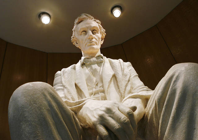 Large statue of Abraham Lincoln on display at the Cowboy and Western Heritage Museum in OKlahoma City Tuesday afternoon, Feb. 10, 2009   BY JIM BECKEL, THE OKLAHOMAN