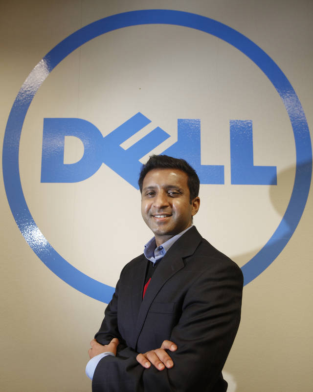 Rohit Keshava, site manager for DELL in Oklahoma City, Friday, February  13,  2012. Photo By Steve Gooch, The Oklahoman