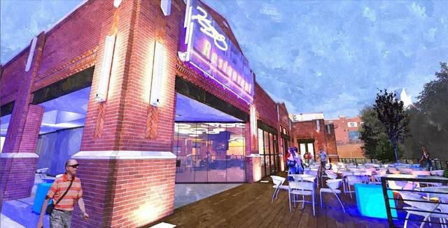 The revised plans for a Kevin Durant restaurant show the entrance will face the Bricktown Canal instead of surface parking as originally proposed by developer Randy Hogan. Drawing provided by Rees Associates