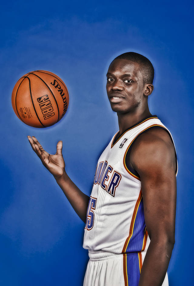 NBA BASKETBALL: Reggie Jackson during the Oklahoma City Thunder media day at the Chesapeake Energy Arena in Oklahoma City, Okla. on Tuesday, Dec. 13, 2011. Photo by Chris Landsberger, The Oklahoman