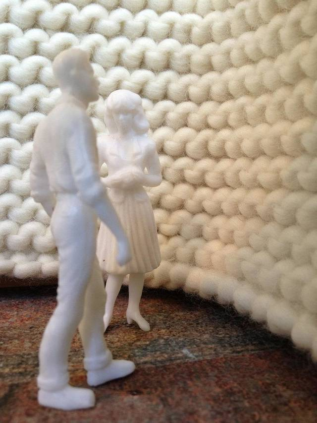 "Spurred by her own musings about what life would have been like had she been a mother, Oklahoma City artist Romy Owens created a room-sized knitted installation where the audience may reflect on their own life decisions for the Oklahoma Visual Arts Coalition's ""Art 365."""