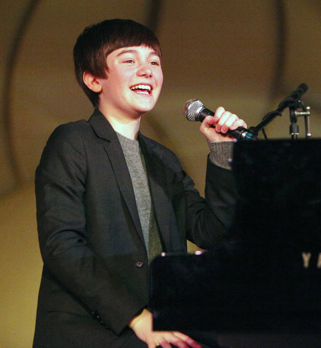 "Greyson Chance of Edmond performs, as Governor-elect Mary Fallin holds a ""Fun for Families"" event at Science Museum Oklahoma in Oklahoma City, OK, Saturday, Jan. 8, 2011. By Paul Hellstern, The Oklahoman"