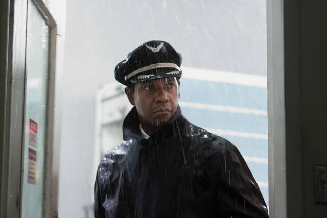 "FILE - This film image released by Paramount Pictures shows Denzel Washington portraying Whip Whitaker in a scene from ""Flight."" ""Flight,"" ""Django Unchained,"" ""Beasts of the Southern Wild,"" ""Red Tails"" and ""Tyler Perry's Good Deeds"" are up for the outstanding motion picture trophy at the 44th annual NAACP Image Awards. (AP Photo/Paramount Pictures, Robert Zuckerman, File) ORG XMIT: CAPH770"
