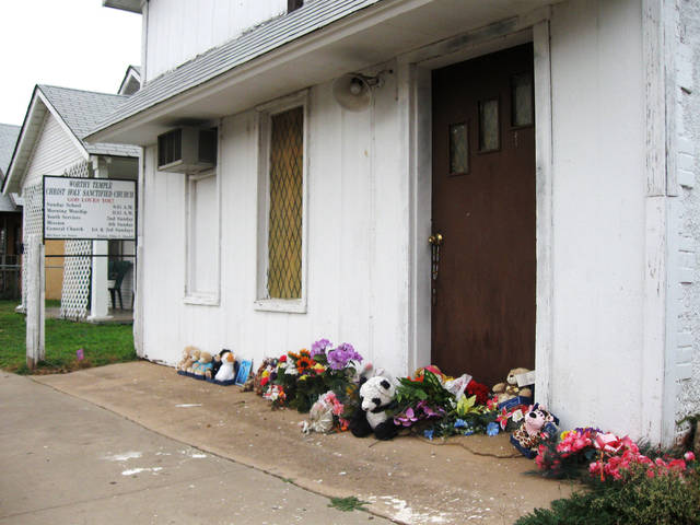 Worthy Temple Christ Holy Santified Church in Anadarko where Pastor Carol Daniels of Oklahoma City was murdered  sometime after the Sunday, August 23, 2009 service. Photo by Ron Jackson, The Oklahoman