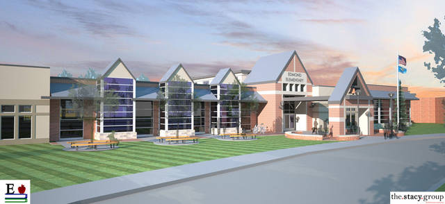 A preliminary concept design of what Edmond�s new elementary school will look like if the bond is passed on Feb. 12. The elementary school will be the 17th in the district.