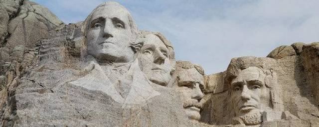 Mount Rushmore, photographed about 9 a.m. on a July day. PHOTO BY TAYLOR BENNETT ORG XMIT: KOD