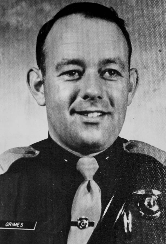 Lt. Pat Grimes was one of three Oklahoma Highway Patrol troopers killed during a gun battle with two escapees from the Oklahoma State Penitentiary on May 26, 1978. Copy of a print from The Oklahoman Archive, Tuesday, Dec. 6, 2011.