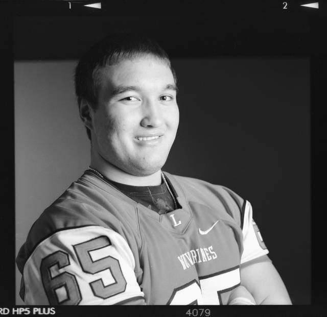 All-State high school football player Ryne Yost of Lawton poses for a photo in Oklahoma, City Monday, Dec. 17, 2012. Photo by Nate Billings, The Oklahoman