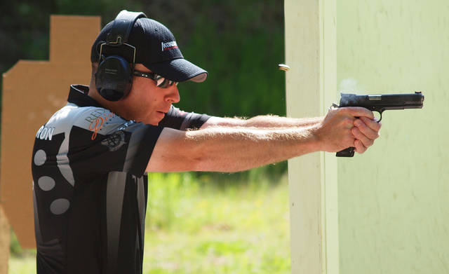Chris Anderson competes on the 3-Gun Nation Pro Series and is a certified grand master pistol shooter.  PHOTO PROVIDED