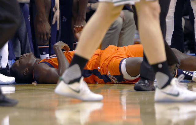 Thunder's Victor Oladipo limps off on Sunday