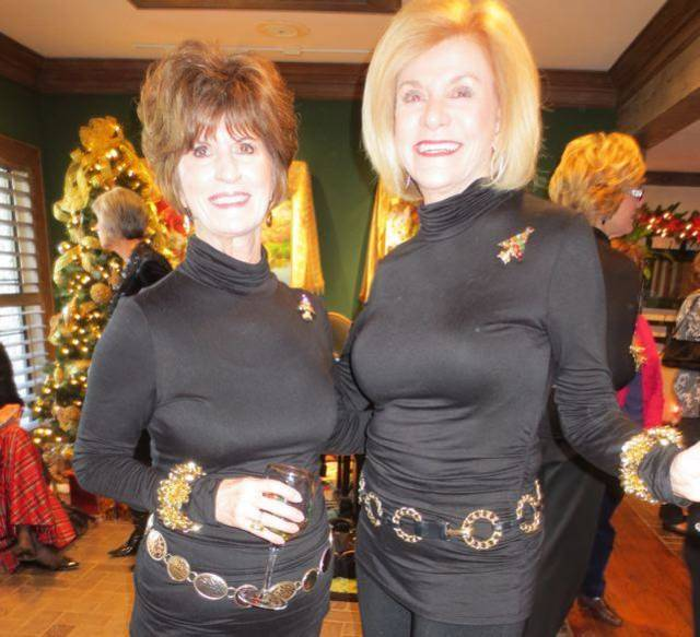 Barbara Brou and Judy Love were hosts for a party, along with their friend Susan Johnston.  The event was in the Love home where colorful 