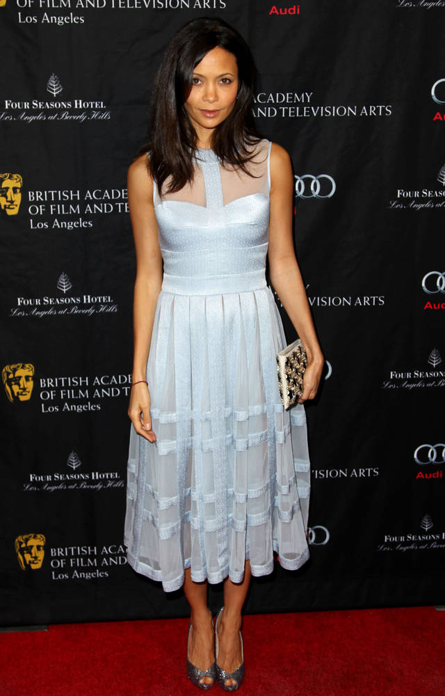 Actress Thandie Newton arrives at the BAFTA Awards Season Tea Party at The Four Seasons Hotel on Saturday, Jan. 12, 2013, in Los Angeles. (Photo by Matt Sayles/Invision/AP)