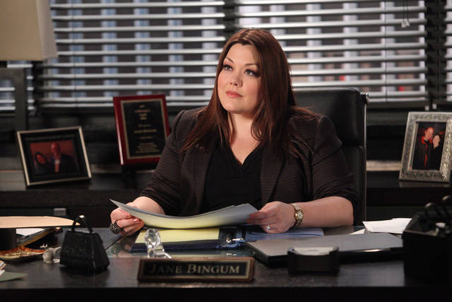 Brooke Elliott stars in an all-new episode of Drop Dead Diva, airing Sunday, August 5, at 9pm on Lifetime.   Photo by Annette Brown