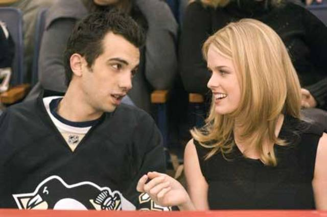 "Jay Baruchel and Alice Eve in ""She's Out of My League."""