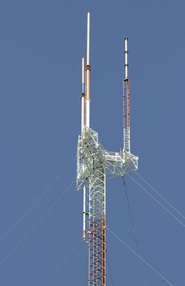 This is one of the TV antennas in north Oklahoma City, OK, Friday, March 9, 2012,  By Paul Hellstern, The Oklahoman