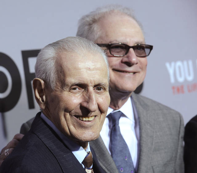 FILE - In this April 14, 2010 file photo, Dr. Jack Kevorkian, left, and director Barry Levinson attend the premiere of 'You Don't Know Jack: The Life and Deaths of Jack Kevorkian' at the Ziegfeld Theatre in New York. Kevorkian's lawyer and friend, Mayer Morganroth, says the assisted suicide advocate has died Friday, June 3, 2011 at a Detroit-area hospital at the age of 83. (AP Photo/Evan Agostini, File)