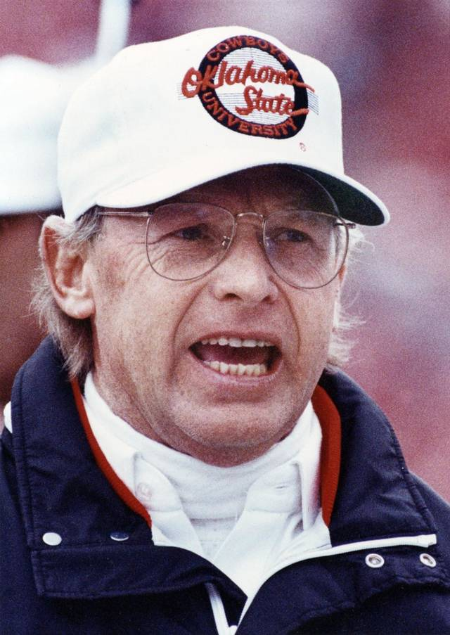Pat Jones, former Oklahoma State head football coach, Oct. 20, 1990. Jones was inducted into the Oklahoma Sports Hall of Fame on March 20, 2012.