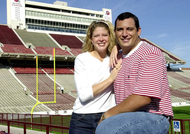 Bubba Burcham and his then-fiancee Miranda Stacy in 2000. Photo by The Oklahoman Archive