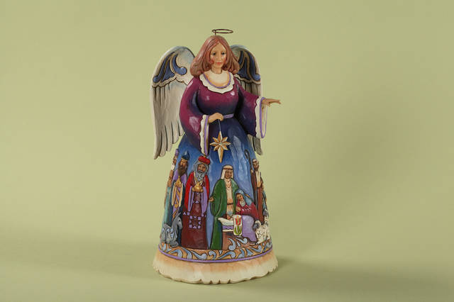 Artist Jim Shore�s designs include angel figurines like this one.  PHOTO PROVIDED
