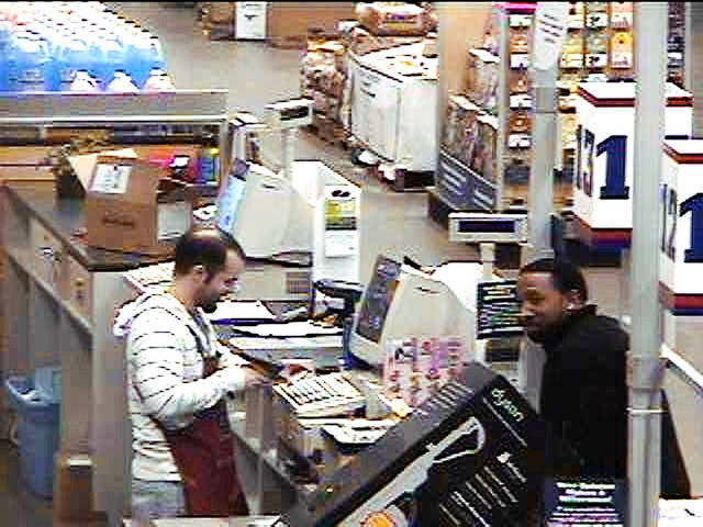 Edmond police are asking for help to identify the man in this security photo from Feb. 12 at Lowe's, 1320 E Second St. Call Crimestoppers at 359-4466. PHOTO PROVIDED BY EDMOND POLICE