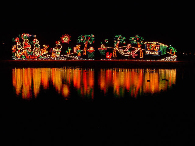 Lights at Yukon's Christmas in the Park. Photo provided. <strong></strong>