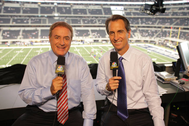 Al Michaels and Cris Collinsworth will call Super Bowl XLVI for NBC. <strong>Zade Rosenthal - NBC</strong>