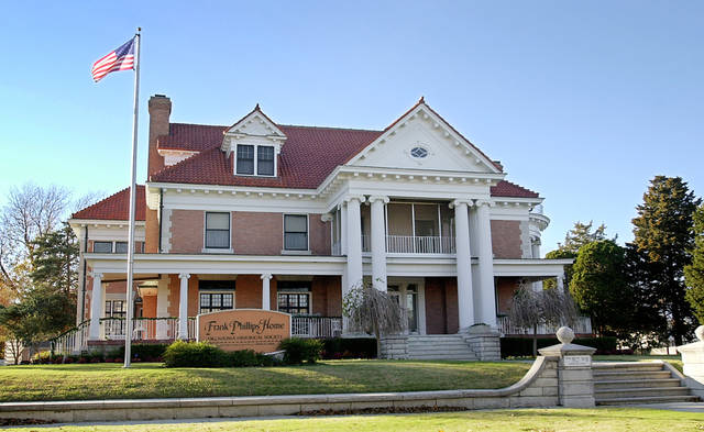 Frank Phillips Home in Bartlesville. Staff photo by David McDaniel.