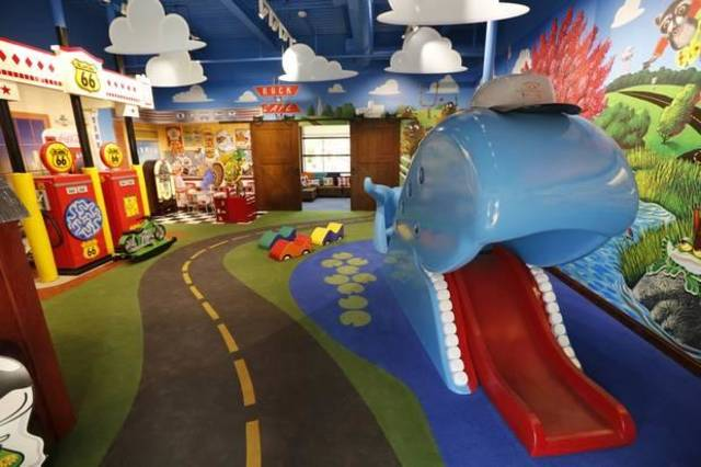 The indoor playroom of the Toby Keith Foundation's OK Kids Korral at 818 NE 8th in Oklahoma City has a Route 66 theme. Photo By Steve Gooch, The Oklahoman