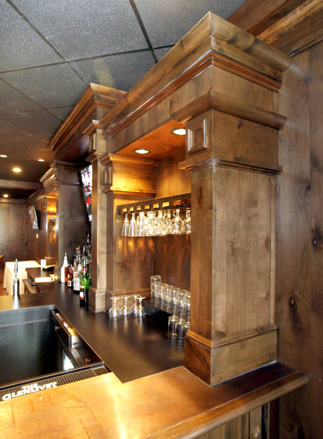 This woodwork is part of the newly renovated bar at the Sportsman's Club in Oklahoma City, OK, Thursday, Jan. 19, 2012. By Paul Hellstern, The Oklahoman