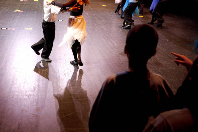 Contestants dance during the Life Change Ballroom Dance Competition at the Rose State Performing Arts Theatre in Midwest City, Okla. Wednesday, Dec. 8, 2011. Photo by Bryan Terry, The Oklahoman
