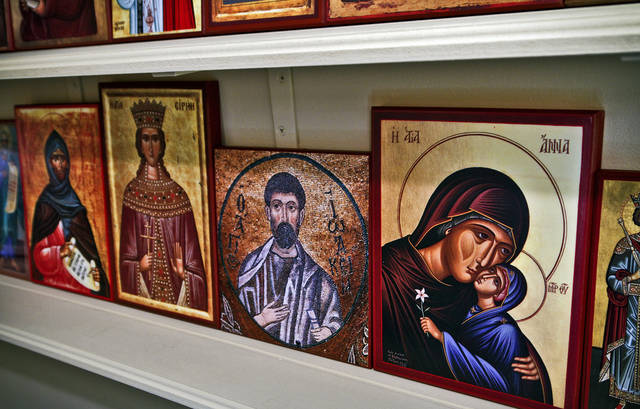 Religious icons in the prayer-devotional room inside of the home of  Kory Warr on Dec. 16, 2011, in Yukon, Oklahoma. Photo by Chris Landsberger